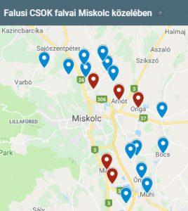 Falusi CSOK települések Miskolc közelében