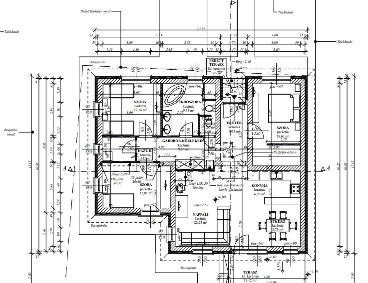 Kistokaj leköthető új építésű 106,76nm 3 szoba nappalis családi ház terasszal 124